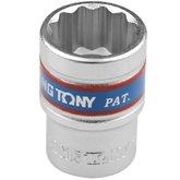 Soquete Estriado de 19 mm com Encaixe 1/2 Pol. - KINGTONY-433019