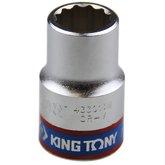 Soquete Estriado de 13 mm com Encaixe de 1/2 Pol. - KINGTONY-433013