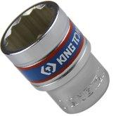 Soquete Estriado de 20 mm com Encaixe 1/2 Pol. - KINGTONY-433020