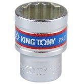 Soquete Estriado de 21 mm com Encaixe de 1/2 Pol. - KINGTONY-433021MR