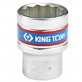 Soquete Estriado de 22 mm com Encaixe de 1/2 Pol. - KINGTONY-433022MR