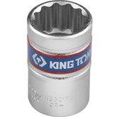 Soquete Estriado de 17 mm com de Encaixe 1/2 Pol. - KINGTONY-433017