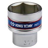 Soquete Sextavado Curto com Encaixe de 1/2 Pol. - 30 mm - KINGTONY-433530