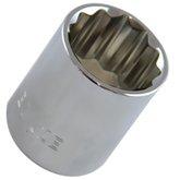 Soquete Estriado 1 1/16 Pol. com Encaixe de 1/2 Pol. - BELZER-204516BBR