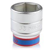 Soquete Sextavado de 33 mm com Encaixe de 3/4 Pol. - KINGTONY-633533M