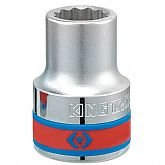 Soquete Estriado com Encaixe de 3/4 Pol. - 23mm - KINGTONY-633023M