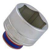 Soquete Sextavado de 60mm com Encaixe 3/4 Pol.  - KINGTONY-633560M