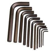 Jogo de Chaves Hexagonais Curtas de 1,5 a 10mm com 11 Peças - GEDORE-12110