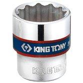 Soquete Estriado 12mm com Encaixe de 3/8 Pol. - KINGTONY-333012M