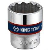 Soquete Estriado 22mm com Encaixe de 3/8 Pol. - KINGTONY-333022M