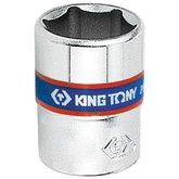 Soquete Sextavado de 8mm com Encaixe de 1/4 Pol. - KINGTONY-233508M