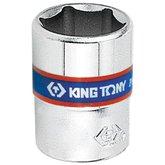 Soquete Sextavado de 12mm com Encaixe de 1/4 Pol.  - KINGTONY-233512M
