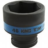 Soquete de Impacto Sextavado com Encaixe 1 Pol. - 46 mm - KINGTONY-853546S