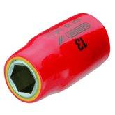 Soquete Sextavado de 1/2 Pol. Isolado com 10 mm - GEDORE-91864