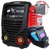Kit Máquina de Solda Inversora FG4125 com Maleta 130A  + Máscara de Solda FG4000 Auto Escurecimento Tonalidade 11 - FORTGPRO-K56