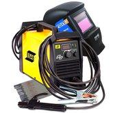 Kit Máquina de Solda Esab 0733920  + Máscara de Solda FortG Pro FG4100 + 3 x Eletrodos Titanium 4870 - ESAB-K193
