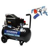 Motocompressor de Ar 50 Litros 2HP  com Kit 5 Peças - HYUNDAI-HYAC50DK