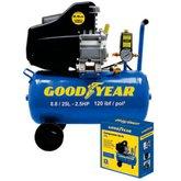 Motocompressor de Ar 8,8 Pés 25 Litros 2,5HP  - GOODYEAR-GYCP0000233