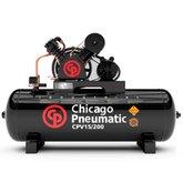 Compressor de Pistão 3HP 15 Pés 200 Litros 220/380V Trifásico - CHICAGO-8969010012