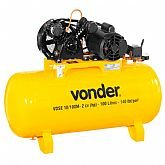 Compressor de Ar VDSE 2CV 10 Pés 100 Litros Monofásico 110/220  - VONDER-68.29.610.122