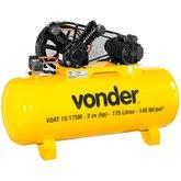 Compressor de Ar VDAT 3CV 15 Pés 175 Litros Monofásico 110/220V  - VONDER-68.29.615.122