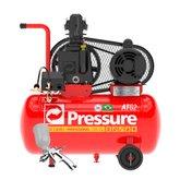 Kit Motocompressor de Ar Pressure ATG2-7,6/28-IM 28L 7,6 Pés Mono Bivolt + Pistola para Pintura Steula BC77-08 Bico Interno 0,8mm - PRESSURE-K92