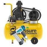 Kit Motocompressor 7,6 Pés Monofásico Bivolt Pressure SE7650IM-N + Pinador Pneumático 100 Peças com Maleta Makita AF505N - PRESSURE-K97