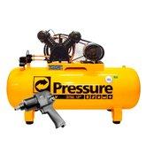 Kit Compressor de Ar Pressure SE20/200VT Trifásico 20PCM 200L + Chave Parafusadeira de Impacto FortG Pro FG3300 1/2 Pol. 79,6Kgfm - PRESSURE-K107