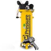 Kit Compressor SE Vertical Pressure SE20/180 20 Pés 180L Trifásico + Chave Parafusadeira de Impacto FortG Pro FG3300 1/2 Pol.  - PRESSURE-K109