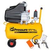Kit Motocompressor de Ar Pressure WP8225L 8,2 Pés 24L  + Jogo de Acessórios com 4 Peças - PRESSURE-K2CK