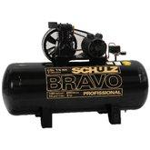 Compressor de Ar 15 Pés 200 Litros Trifásico Bravo - SCHULZ-CSL15BR/200L