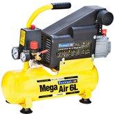 Compressor de Ar Mega Air 1HP 5,5 PCM 6 Litros 110/220V - FERRARI-C-6L