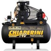 Compressor Monofásico de 6 MPI 70 Litros Motor de 1.5 HP  - CHIAPERINI- 6/70L