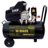 Motocompressor 2HP 50 Litros  - V8 BRASIL-8.5/50