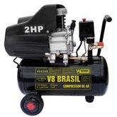 Motocompressor 2HP 8,5 Pés 25 Litros  - V8 BRASIL-8,5/25L