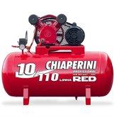 Compressor de Ar 10 PCM 110 Litros Monofásico Bivolt - CHIAPERINI-10/110RED