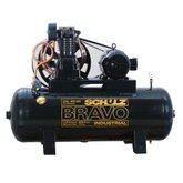 Compressor de Ar 250 Litros 40 Pés Trifásico Alta Pressão Industrial  - SCHULZ-40/250L-BRAVO