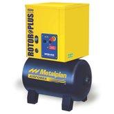 Compressor de Ar de Parafuso 4HP 10 Bar 17,6PCM Trifásico 67 Litros  - METALPLAN-ROTORPLUS0043AC