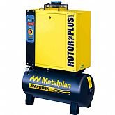 Compressor de Ar de Parafuso 4HP Trifásico 10 Bar 17,6PCM 67 Litros 380V - METALPLAN-ROTORPLUS0049AC