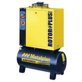 Compressor de Ar Parafuso 6HP 8Bar Trifásico 27,4PCM 97 Litros  - METALPLAN-ROTORPLUS0063AB