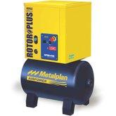 Compressor de Ar de Parafuso 4HP Mono 7 Bar 19,9PCM 67 Litros  - METALPLAN-ROTORPLUS0041AA