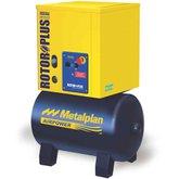 Compressor de Ar de Parafuso 4HP Trifásico 7 Bar 19,9PCM 67 Litros 380V - METALPLAN-ROTORPLUS0049AA