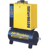 Compressor de Ar de Parafuso 6HP 10Bar Trifásico 24,9PCM 97 Litros 380V - METALPLAN-ROTORPLUS0069AC