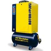 Compressor de Ar de Parafuso 10HP 7,5Bar Trifásico 39,8PCM com Reservatório 97 Litros 380V - METALPLAN-ROTORPLUS0109AA
