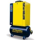 Compressor de Ar de Parafuso 10Hp 9Bar Trifásico 36,5PCM 97 Litros 380V - METALPLAN-ROTORPLUS0109AB