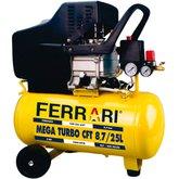 Motocompressor de Ar 8,7PCM 25 Litros Bivolt - FERRARI-CFT8.7/25L