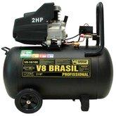 Motocompressor de Ar 10 Pés 115PSI 2HP  - V8 BRASIL-96691
