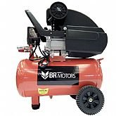 Motocompressor de Ar 2HP 115PSI 24 Litros  - BR MOTORS-RDC-8.8/25