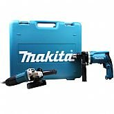 Kit Furadeira de Impacto + Esmerilhadeira Angular  com Maleta - MAKITA-DK1149