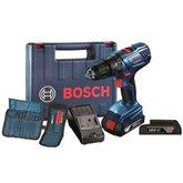 Parafusadeira/Furadeira de Impacto 1/2 Pol. 2 Baterias 18V Litio Kit com 23 Acessórios e Maleta - BOSCH-GSB180-LI-AC